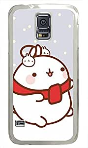 galaxy s5 case,custom samsung galaxy s5 case,TPU Material,Drop Protection,Shock Absorbent,Transparent case,cute cartoon patternCold little bunny