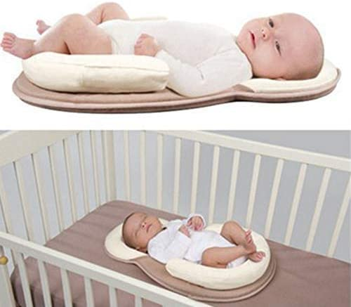 MADELEINE PRESTON Portable Baby Pillow Baby Crib Mattress Newborn Baby and Infant Anti-Roll and Infant Age 0-12 Months