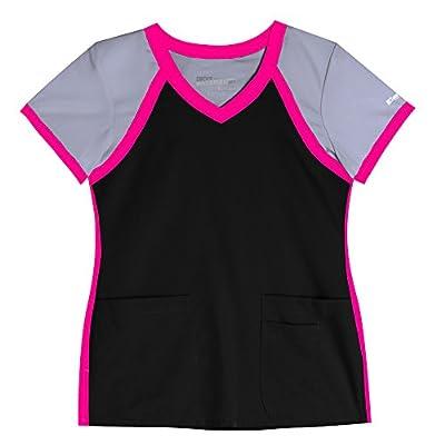 Active by Grey's Anatomy Women's Tri-Color V-Neck Solid Scrub Top