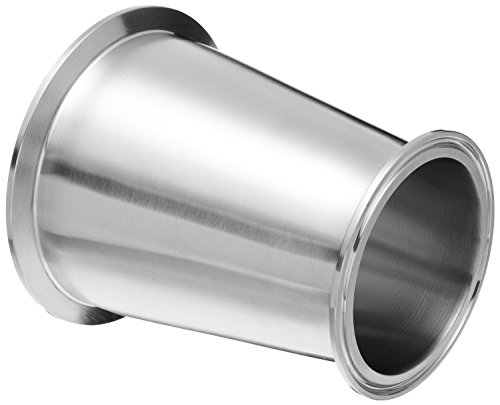 Dixon B3114MP-G400300 Stainless Steel 304 Sanitary Fitting, Clamp Concentric Red Fiberglassucer, 4'' Tube OD x 3'' Tube OD by Dixon Valve & Coupling