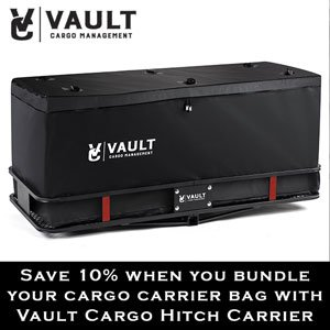 """60"""" x 22.5"""" Cargo Hitch Carrier by Vault - Haul Your Cooler & Camping Gear with this Rugged Steel Storage Rack & Basket for Your Truck or SUV - Easily Mounts to Trailer Towing Hitches"""