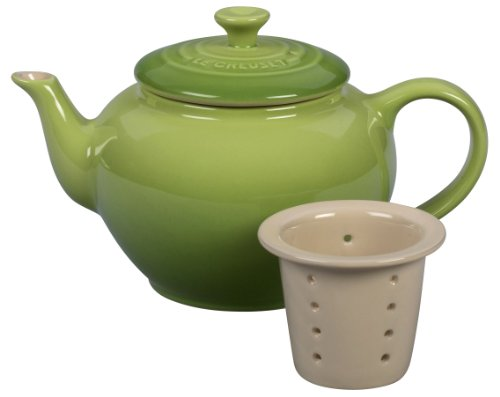 Le Creuset Stoneware 22-Ounce Teapot with Infuser, Palm
