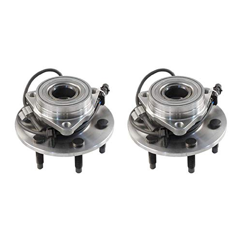 Viksee For Cadillac Chevrolet GMC 4.8L 5.3L 4WD AWD 515036 X 2pcs Front Wheel Hub Bearing Assembly W/ABS
