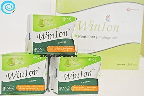 1 Box Pantiliner WinIon Anion Pad Winalite Sanitary Napkin 384 pads without wing
