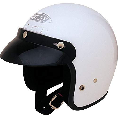(GMAX GM-2 Youth Open-Face Street Motorcycle Helmet - White/Small)