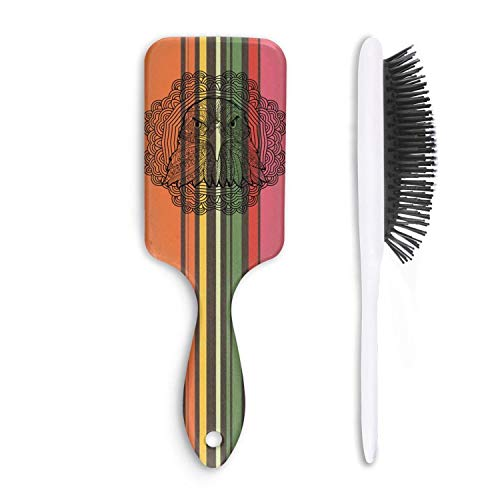 (Unisex Detangle Hair Brush Mandala pattern eagle vector Boar Bristle Paddle Hairbrush for Wet, Dry, Thick, Thin,Curly hair)