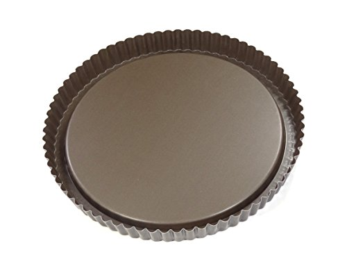 Gobel  inchFresh Fruit inch Tart Pan 11.02 inch Diameter x 1.38 inch High, Tin-Plated Steel with Non-Stick Coating