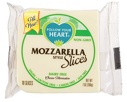 - Follow Your Heart Dairy Free, Soy Free, Gluten Free, Vegan Sliced Cheese Alternative 7 ounces (10 Slices) Pack of 12 (Mozzarella)