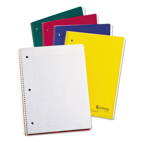 Earthwise by Oxford 25207 Recycled 1-Subject Notebooks, 11 x 8 1/2, WE, 100 - Recycled Subject 1 Notebook