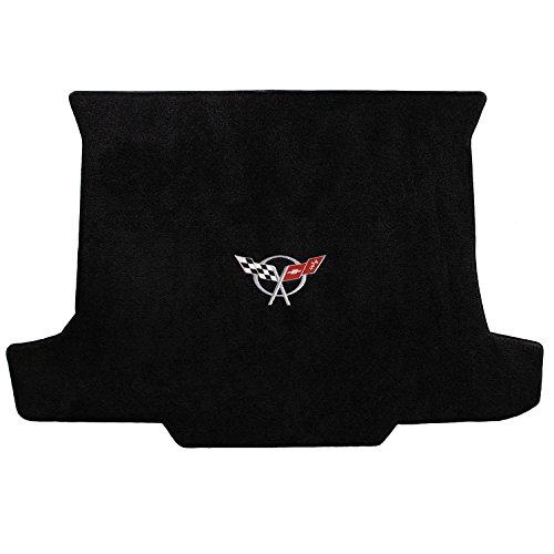 (Lloyd Mats 1998-2004 C5 Corvette Convertible Black Ultimat Trunk Mat - Silver Flags Logo)