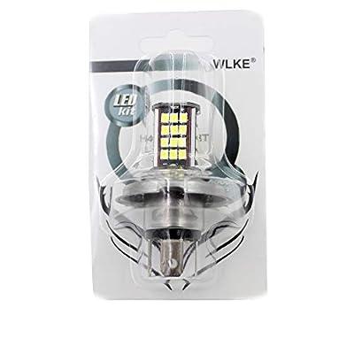 6V 56 SMD H4 LED Lamp Motorcycle Headlight Bulb Motorbike 10W 800LM 6000K White High/Low Conversion Kit: Automotive