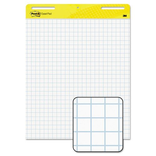 Post-it Super Sticky Easel Pad, 25 x 30 Inches, 30 Sheets/Pad, 2 Pads (560), Large White Grid Premium Self Stick Flip Chart Paper, Super Sticking Power by Post-it