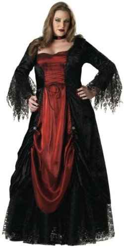 Amazon.com: Gótica Vampiress Costume – Plus tamaño 3 X ...