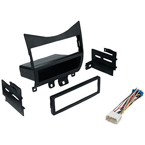 1 - 2003-UP 1DIN W/HRNS, In-Dash Installation Kit (Honda(R) Accord 2003 & Up with Harness, Radio Relocation to Factory Pocket Single-DIN), Single-DIN kit with harness & radio relocation to factory pocket for Honda(R) Accord 2003 & up , Kit compatible with:, 2003 - 2007 Honda(R) Accord, , … (Harness Relocation)