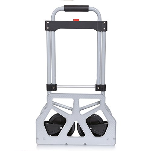 Schafter Heavy Duty Folding Hand Truck Luggage Trolley Cart,Lightweight Travel Dolly Box/Case Carrier for Indoor Outdoor Travel Shopping by Schafter
