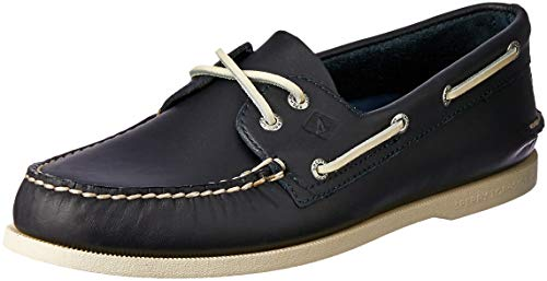 Sperry Men's A/O 2-Eye Shoe, Navy, 9.5 Medium - System Lacing Eyelet