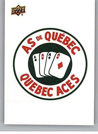 03c935487 Amazon.com  2014-15 Upper Deck AHL Logo Stickers Hockey  68 Quebec Aces  Vintage Logo  Collectibles   Fine Art