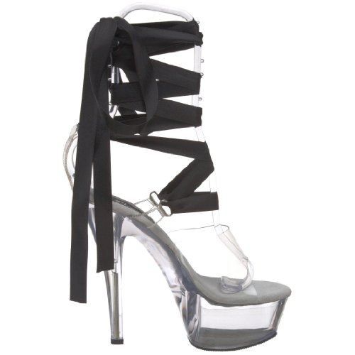 Clear 7 295 Women's Kiss Sandal Pleaser M US Platform ExRwXYWHdq
