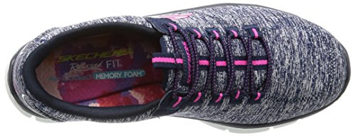 Skechers Damen Sport Empire - Rock um Relaxed Fit Fashion Sneaker Navy Pink