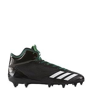 adidas Adizero 5Star 6.0 Mid Cleat Men's Football 8.5 Core Black-White-Dark Green