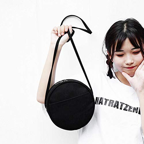 women Shoulder PU Bags Women Round Shoulder for Messenger Black Bags Casual Leather Crossbody Circle bags Widewing UwaPntqU
