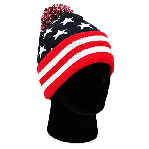 b7d6a8289f1 Beanie Winter Knit American Flag product image