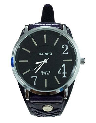 D'SHARK Purple Leather Cuff Wrist Watch Band, Watchband, Watch Strap, Wristband - Unisex by D'SHARK