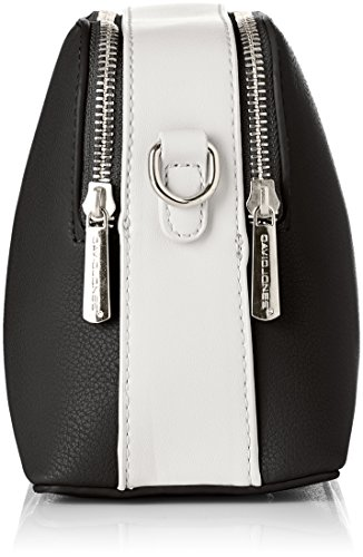 David Jones Damen Cm3733 Umhängetasche, 10x16x21 centimeters Schwarz (Black/White)