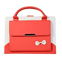 iPad Air Case Handbag,Lovely Slim Fit Business Handbag Wallet PU Leather Cover with Floding Stand Auto Wake/Sleep Smart Cover for Apple New iPad 9.7 2017/Pro 9.7/Air 2 (Red) Boens