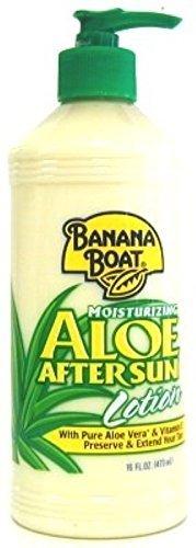 Banana Boat Aloe After Sun Lotion Pump 16 Ounce (473ml) (3 Pack) by Banana Boat