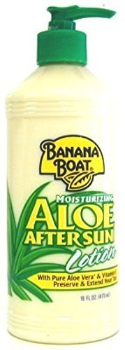 Banana Boat Aloe After Sun Lotion Pump 16 Ounce (473ml) (3 Pack) (Banana Boat Moisturizing Aloe After Sun Lotion)