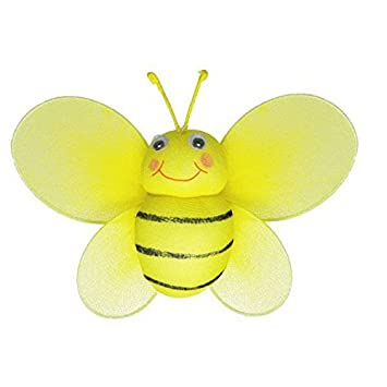 The Butterfly Grove Bailey Bumblebee Decoration 3D Hanging Mesh Nylon Decor Yellow Daffodil Small