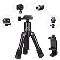 Tripod -Albott 20 inches Desktop Tabletop Mini Tripod with Quick Release Plate and Adjustable Phone Stand for Canon Nikon DSLR Camera iPhone Samsung Phone