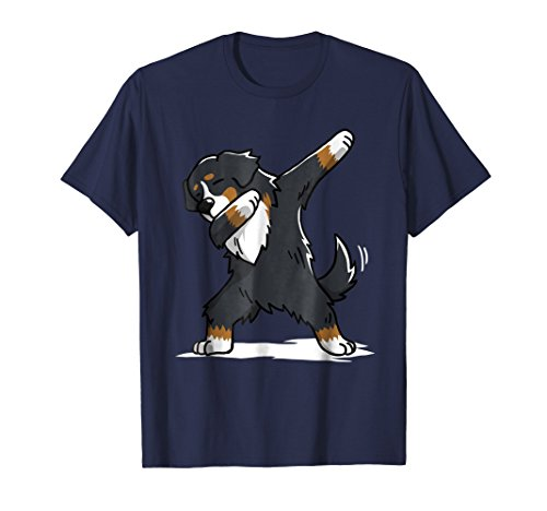 Mens Bernese Mountain Dog T-Shirt Dab Dance Gift Shirt Small Navy