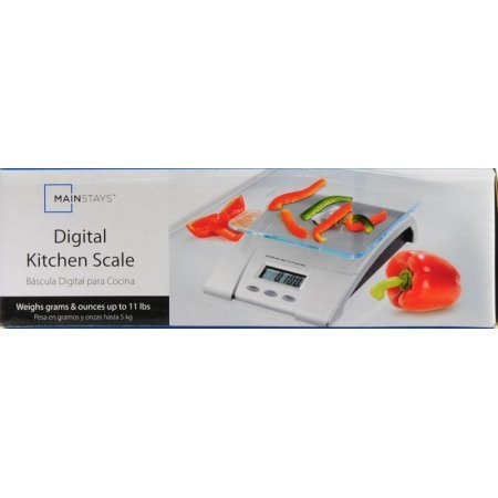 Amazon.com: Mainstays Auto-off Glass Digital Kitchen Scale Weighs Up To 11 lbs: Kitchen & Dining