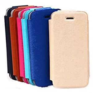 Fashion Mink Grain PU Leather Case Cover For iPhone 5 5S 5C --- Color:Black