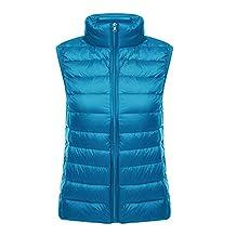 Vedem Women's Winter Ultra Light Down Vest Gilet Coat