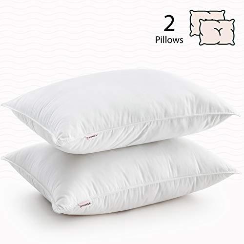 FAUNNA, Lux Pillows for Sleeping (2-Pack) (Queen) - Gel-Fiber Down Alternative