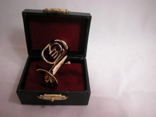 "Dollhouse Miniature Music 2"" Baritone Horn #Z222 from Mini Bear Gems"