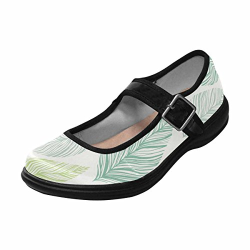 Interestprint Womens Comfort Mary Jane Flats Casual Scarpe Da Passeggio Multi 10