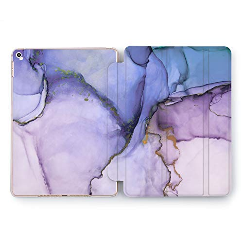 Wonder Wild Purple Marble Apple iPad Pro Case 9.7 11 inch Mini 1 2 3 4 Air 2 10.5 12.9 2018 2017 Design 5th 6th Gen Clear Smart Hard Cover Bright Colorful Iridescence Palette Watercolor Waves Blur