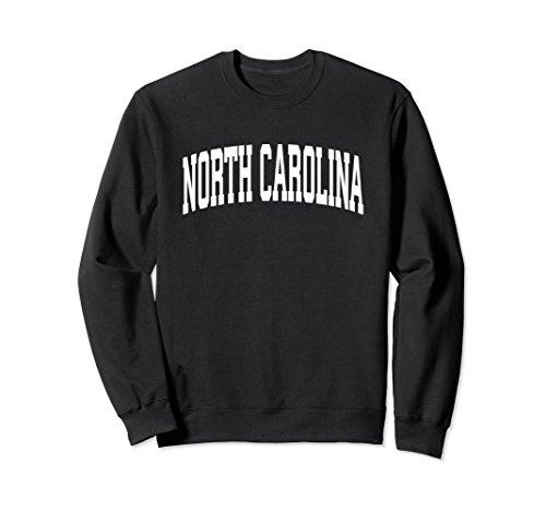 Unisex North Carolina Crewneck Sweatshirt Sports College Style Gift Small (Black Classic College Hoody Sweatshirt)
