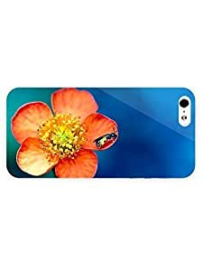 3d Full Wrap Case for iPhone 5/5s Animal Bee On An Orange Flower22