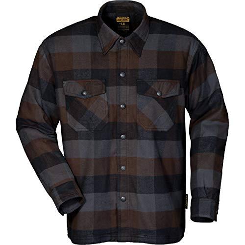 Motorcycle Riding Shirts - Scorpion Covert Flannel Shirt (XX-LARGE) (BLACK/BROWN/GREY)