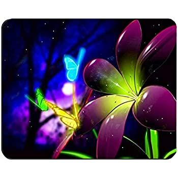 Mouse Pad Purple Butterfly Customized Rectangle Mousepad