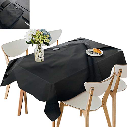 Dachshund Fitted T-shirt - UHOO2018 Fitted Polyester Tablecloth   Mockup bl k t Shirt Square/Rectangle Washable for Tablecloth,54 x110inch