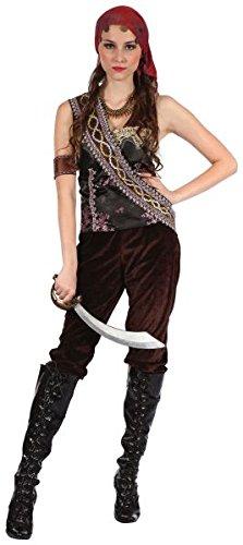 Bristol Novelty AC165 Pirate Gypsy Lady Costume (UK 10-14) -
