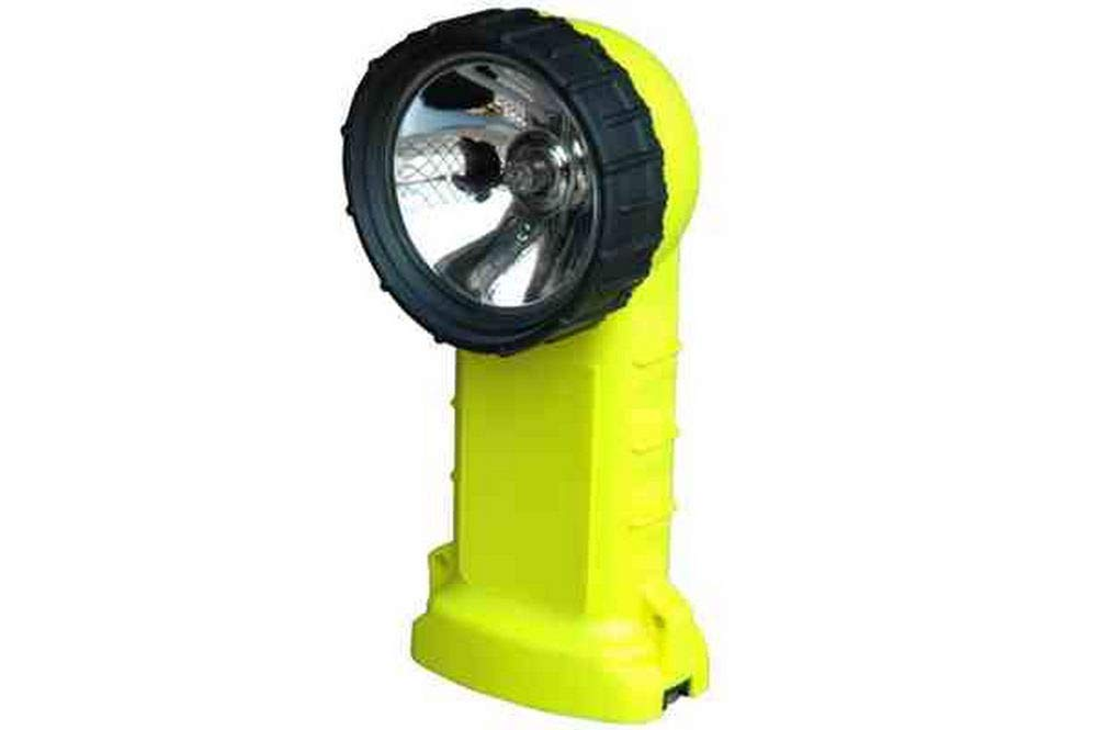 Explosion Proof Right Angle Light 4 C-cell Batteries Class 1 Div 2 MADE IN USA Clips On Carry