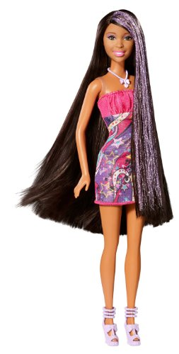 Barbie Hair-Tastic Long Hair African-American Doll (Hairtastic Barbie Dolls)