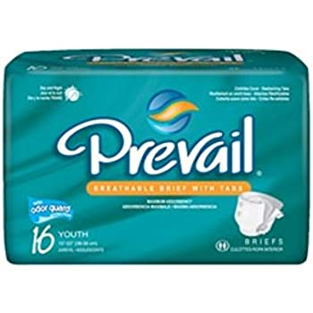 First Quality Prevail Youth Brief Fits 15 - 22 inch waist 96 Per Case